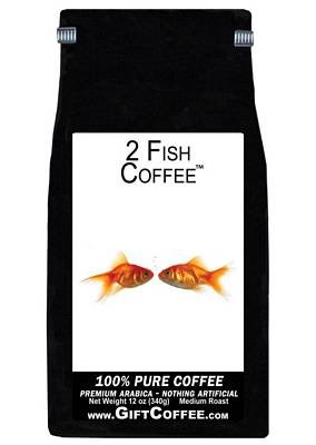 2 Fish Gift Coffee, 12 Ounce Bag of Gourmet Coffee