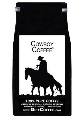 Cowboy Gift Coffee, 12 Ounce Bag of Gourmet Coffee