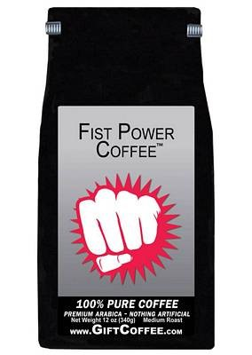 Fist Power Gift Coffee, 12 Ounce Bag of Gourmet Coffee