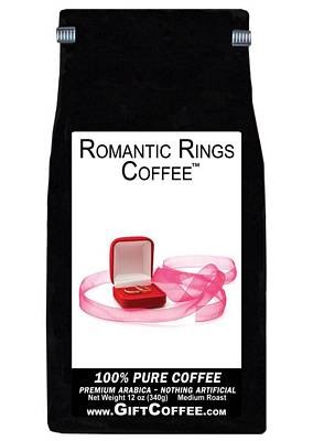 Romantic Rings Gift Coffee, 12 Ounce Bag of Gourmet Coffee