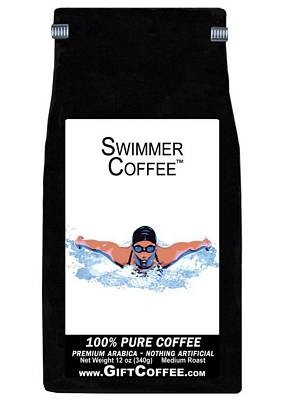 Swimmer Gift Coffee, 12 Ounce Bag of Gourmet Coffee