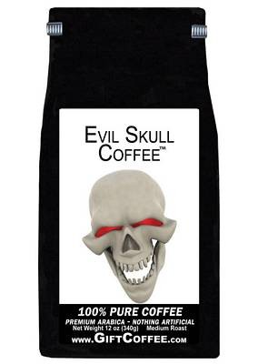 Evil Skull Gift Coffee, 12 Ounce Bag of Gourmet Coffee