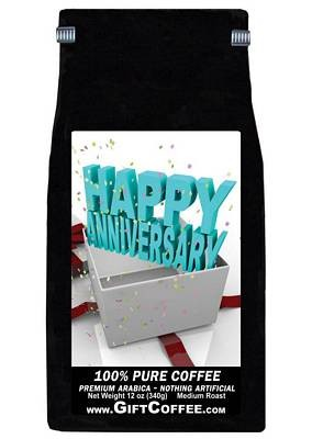 Happy Anniversary Gift Coffee, 12 Ounce Bag of Gourmet Coffee