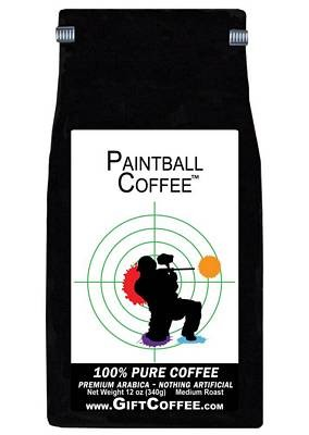 Paintball Gift Coffee, 12 Ounce Bag of Gourmet Coffee