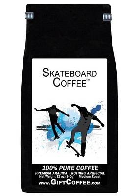 Skateboard Gift Coffee, 12 Ounce Bag of Gourmet Coffee