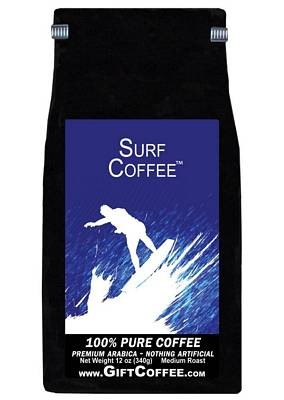 Surf Gift Coffee, 12 Ounce Bag of Gourmet Coffee