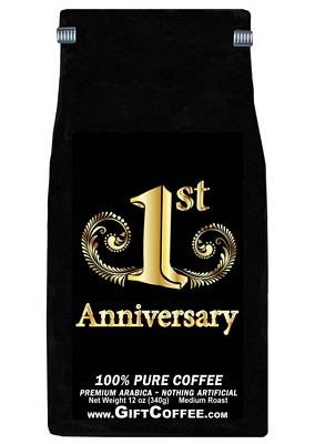 1st Anniversary Gift Coffee, 12 Ounce Bag of Gourmet Coffee