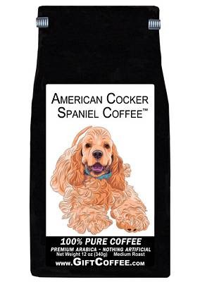 American Cocker Spaniel Gift Coffee, 12 Ounce Bag of Gourmet Coffee