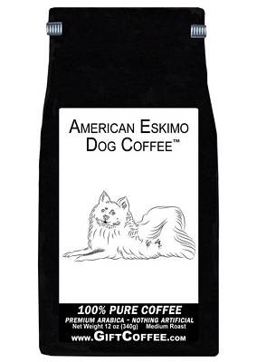 American Eskimo Dog Gift Coffee, 12 Ounce Bag of Gourmet Coffee