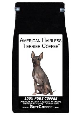 American Hairless Terrier Gift Coffee, 12 Ounce Bag of Gourmet Coffee
