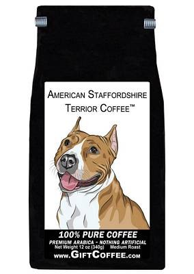American Staffordshire Terrier Gift Coffee, 12 Ounce Bag of Gourmet Coffee