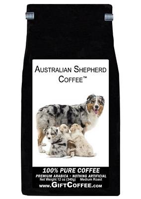 Australian Shepherd Gift Coffee, 12 Ounce Bag of Gourmet Coffee
