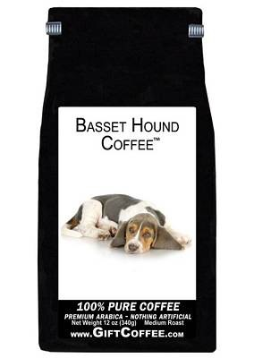 Basset Hound Gift Coffee, 12 Ounce Bag of Gourmet Coffee