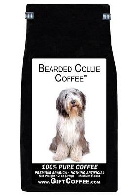 Bearded Collie Gift Coffee, 12 Ounce Bag of Gourmet Coffee