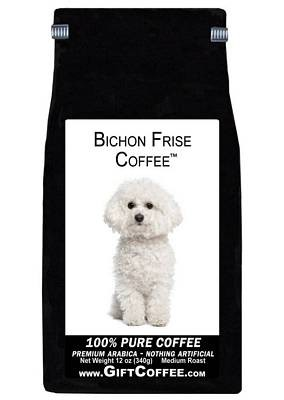 Bichon Frise Gift Coffee, 12 Ounce Bag of Gourmet Coffee