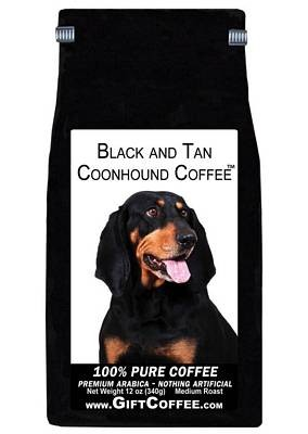 Black and Tan Coonhound Gift Coffee, 12 Ounce Bag of Gourmet Coffee
