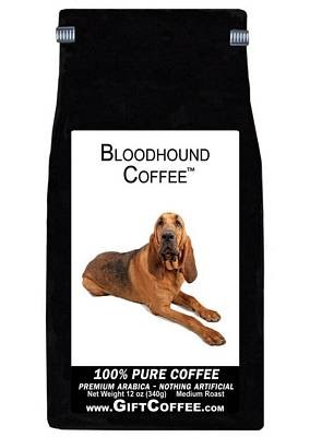 Bloodhound Gift Coffee, 12 Ounce Bag of Gourmet Coffee