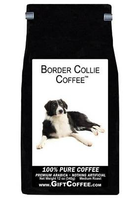 Border Collie Gift Coffee, 12 Ounce Bag of Gourmet Coffee