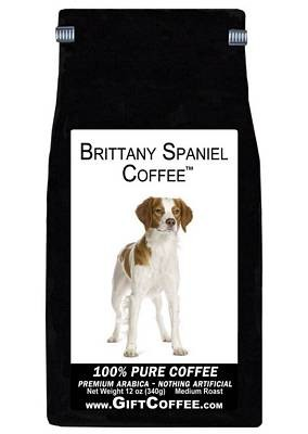 Brittany Spaniel Gift Coffee, 12 Ounce Bag of Gourmet Coffee