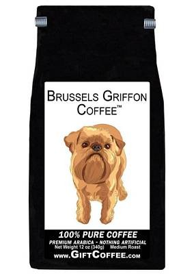 Brussels Griffon Gift Coffee, 12 Ounce Bag of Gourmet Coffee