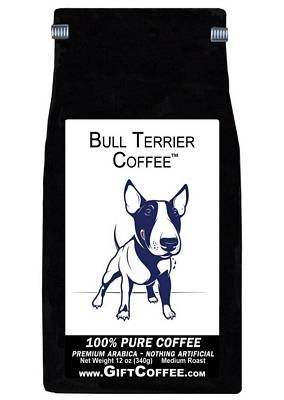 Bull Terrier Gift Coffee, 12 Ounce Bag of Gourmet Coffee