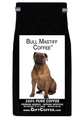 Bull Mastiff Gift Coffee, 12 Ounce Bag of Gourmet Coffee