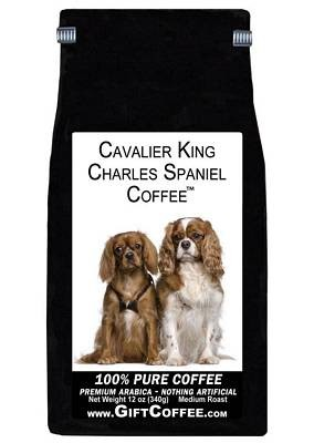 Cavalier King Charles Spaniel Gift Coffee, 12 Ounce Bag of Gourmet Coffee