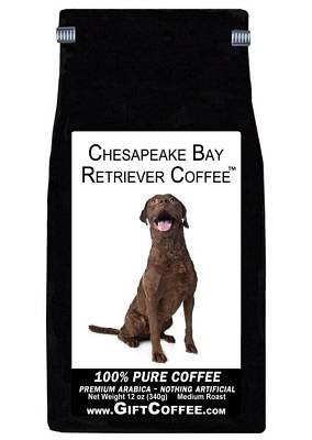 Chesapeake Bay Retriever Gift Coffee, 12 Ounce Bag of Gourmet Coffee