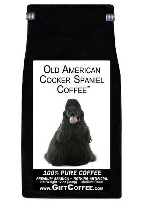 Old American Cocker Spaniel Gift Coffee, 12 Ounce Bag of Gourmet Coffee