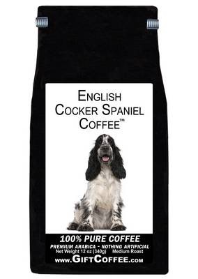 English Cocker Spaniel Gift Coffee, 12 Ounce Bag of Gourmet Coffee