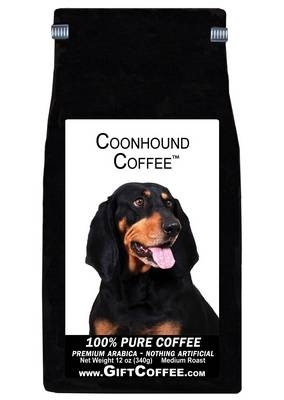 Coonhound Gift Coffee, 12 Ounce Bag of Gourmet Coffee