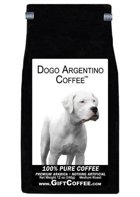 Dogo Argentino Gift Coffee, 12 Ounce Bag of Gourmet Coffee