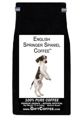 English Springer Spaniel Gift Coffee, 12 Ounce Bag of Gourmet Coffee