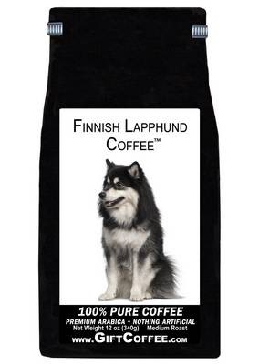 Finnish Lapphund Gift Coffee, 12 Ounce Bag of Gourmet Coffee