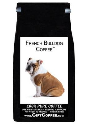 French Bulldog Gift Coffee, 12 Ounce Bag of Gourmet Coffee