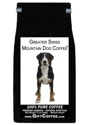 Greater Swiss Mountain Dog Gift Coffee, 12 Ounce Bag of Gourmet Coffee