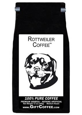 Rottweiler Gift Coffee, 12 Ounce Bag of Gourmet Coffee