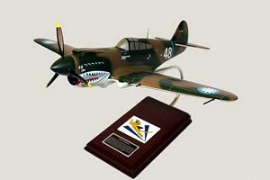 P-40E Warhawk Flying Tigers Military Aircraft Model