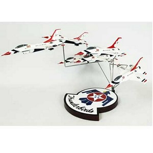 F-16 Thunderbirds in Formation Military Aircraft Model