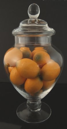 Fake Food Mini Lemons In Glass Apothecary Jar