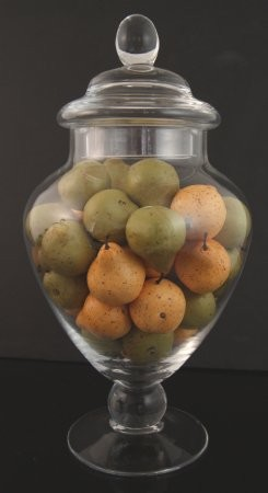 Fake Food Mini Assorted Pears In Glass Apothecary Jar