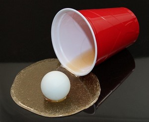 Fake Food Spilled Beer Pong Cup