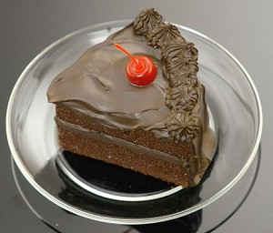 Fake Food Slice Fudge Cake