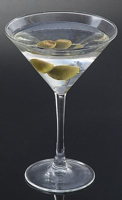Fake Food Martini With Olives Dry