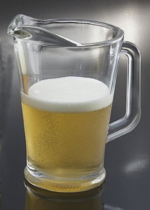 Fake Food Beer Pitcher Frosted