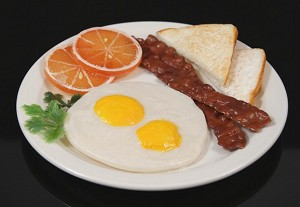 Fake Food Bacon & Eggs Plate