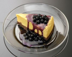 Fake Food Blueberry Cheesecake On Dish