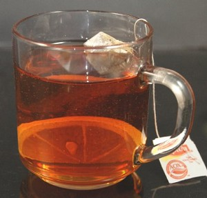 Fake Food Hot Tea In Glass Mug