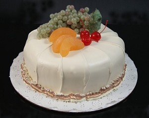 Fake Food Cake With Fruit On Top