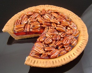 Fake Food Pecan Pie Slice Out
